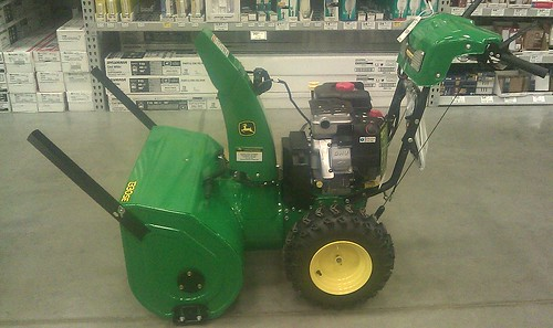 my 1330se is ordered from the local deere dealer and won't be here for a  couple weeks  i saw the same blower at lowe's today and here are pictures  of the