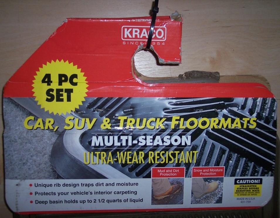 ALL SEASON FLOOR MAT - CAR/TRUCK/SUV - KRACO BRAND - 01