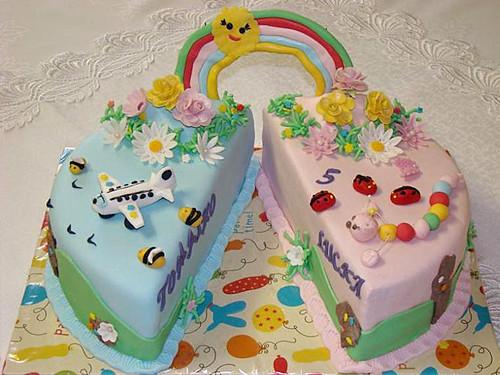 ... pre dvojčatá _ Birthday Cake for Twins - a photo on Flickriver