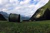Das letzte Gras (mikiitaly) Tags: schnee italy panorama wiesen himmel berge casio landschaft wald bäume exilim südtirol altoadige heuballen wilken pfitschtal pfitsch