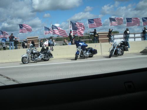 Rally on Main Street bridge