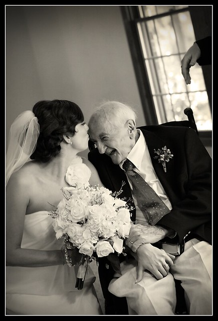 Bride with her Grandpa.