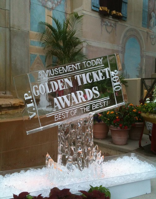 Gorgeous ice sculpture for the GTAs!