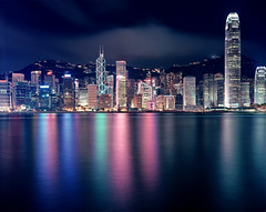 Hong Kong #108 - this is it (Thomas Birke) Tags: china urban panorama tower film glass sign ferry night clouds analog advertising hotel office neon dragon cloudy kodak dusk district central bank 8x10 300mm hong kong transparency highrise coastline bluehour thepeak residential largeformat banking lippocentre p2 density finance mandarinoriental sinar schneiderkreuznach ektar ifcii bankofamericatower conradhotel marriothotel hsbctower jardinehouse internationalfinancecentre peaktramstation 56300 ifci standardcharteredbanktower aposymmarl