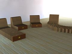 cardboard furniture (Sketchup_3D) Tags: green furniture contemporary cardboard sketchup recycle recycling moderndesign sketchupcad