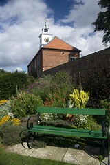 Gunby Hall Food & Produce Day (lincolndisplayimages.com) Tags: estate lincolnshire clocktower nationaltrust 18thcentury emptybench spilsby gunbyhall massingberd pe235ss victorianwalledgardens