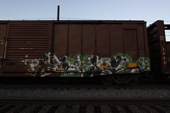 Geso (A & P Bench) Tags: art train bench graffiti fan steel stock rail railway spraypaint graff flick railfan freight rolling freighttrain benching freightgraffiti freighttraingraffiti