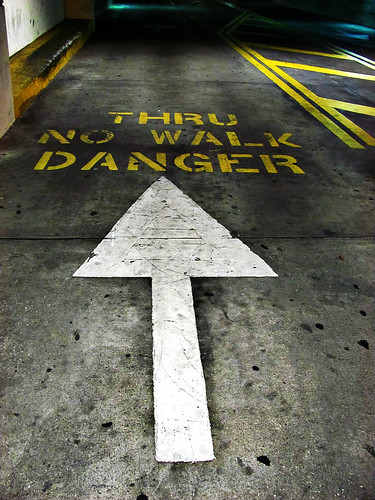 thur no walk danger