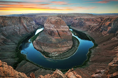 Horseshoe Bend (Extra Medium) Tags: arizona river desert page coloradoriver lakepowell glencanyonnationalrecreationarea horseshoebend sunset2010antelopecanyonarizonadesertgrandcanyonhorseshoebendsummer