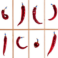 Many Chillies (christian.senger) Tags: wood blue light red food brown white hot texture nature backlight digital germany geotagged fire grid nikon bars europe chili flash decoration rape needle tiles frame peppers fascination minimalism abundance ulm lightroom d300 strobist christian_senger:year=2010