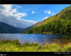 The Upper Lake (bbusschots) Tags: ireland lake mountains clouds landscape glendalough 1001nights wicklow hdr topaz dodgeburn photomatix tonemapped tthdr flickraward thebestofday topazadjust nneniyisi