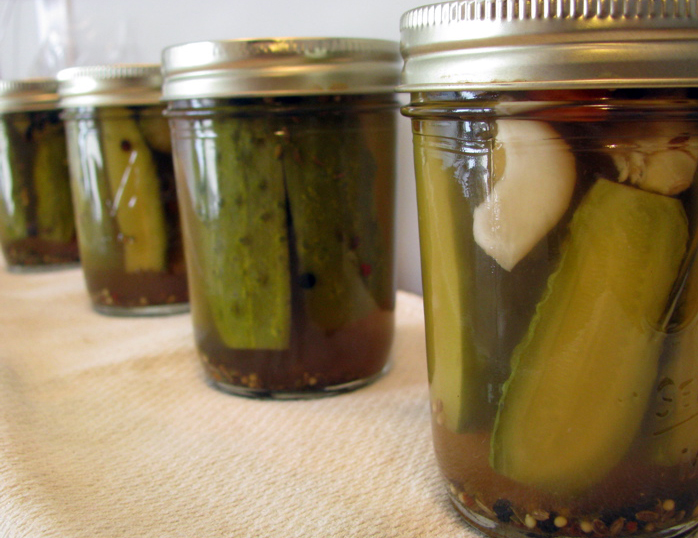 first pickles!