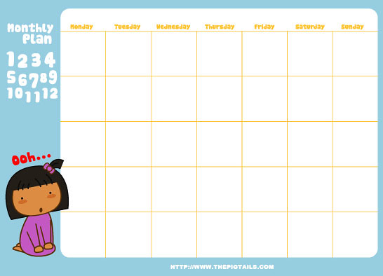pigtails pigtails monthly planners