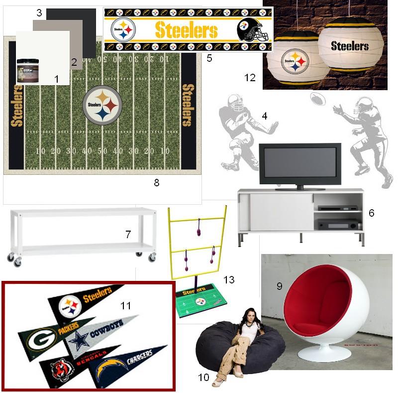 NFL gameroom