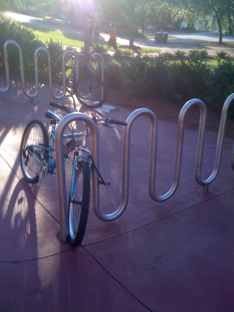 Bike Rack at Lakeside Cafe