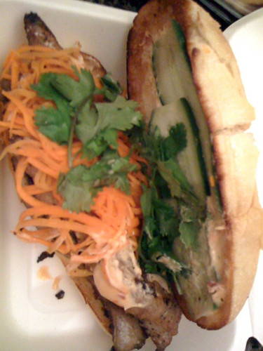 Cambodian catfish sandwich