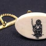 """<b>Tie Tack with Eskimo Hunter</b><br/> Unknown, Eskimo American (ivory, ca. 1971) LFAC#2008:01:40<a href=""""http://farm5.static.flickr.com/4090/4996992754_cb31234dd0_o.jpg"""" title=""""High res"""">∝</a>"""