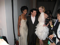 Amanda Fields in the feathered dress I made for Malan Breton