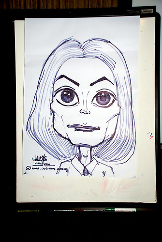 caricature workshop for The British Club - Michael Jackson caricature