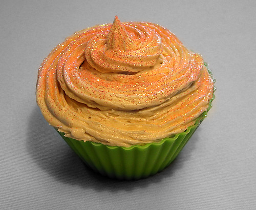 Lemon glitter cupcake