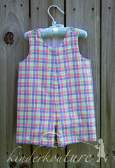 Boys Plaid Romper