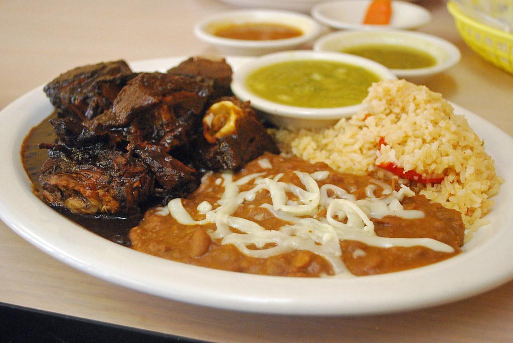 Birria estilo Michoacan Beans Rice