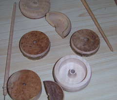 Stages in spindle making