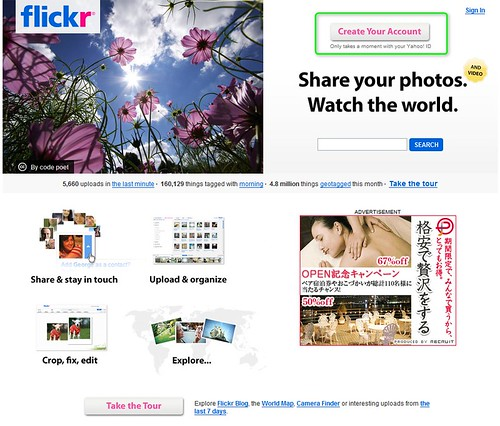 flickr-create account