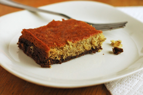 Cocoa Bottomed Banana Bars