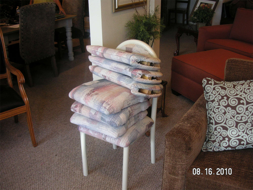 before-seat and back cushions