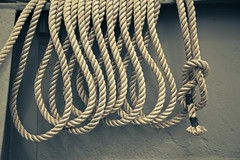 Ropes & Knots (Matt Kursmark) Tags: boat ship rope knot richmond worldwarii bayarea shipyard redoakvictory victoryship