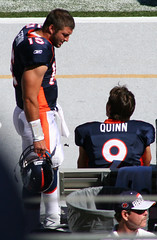 Tim Tebow and Brady Quinn (Jeffrey Beall) Tags: denverbroncos bradyquinn timtebow professinalfootball