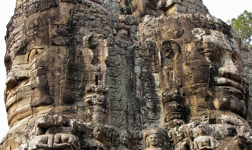 Wat Thom Entrance Faces