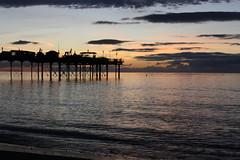 CC2182 (Chris Chapman Creative Media) Tags: autumn light sea sunlight seascape sunrise canon lens eos pier colours tripod september devon flare kit groins teignmouth velbon 1000d