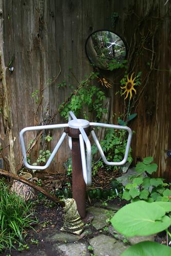 japanese garden revolving door