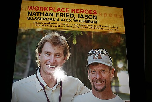 RED CROSS Hometown Hero poster of WET Guides Alex and Nate