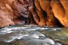 Vision of Excellence (Michael Greene's Wild Moments) Tags: summer utah ut hiking zionnationalpark slotcanyon fineartphotography virginriver slowshutterspeed springdale zionnarrows canyoneering landscapephotography michaelgreene landscapephotogaphy wildmoments landscapephotographyworkshop landcapephotographer landscapephotographygallery
