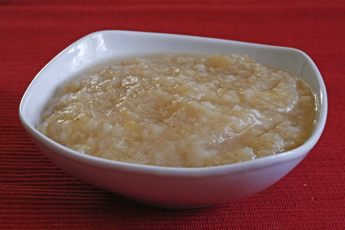 Spiced Pear Apple Sauce