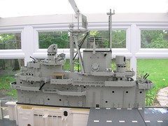 USS Intrepid Island 8 (Lego Monster) Tags: ship lego wip aircraftcarrier usnavy carrier ussintrepid essexclass