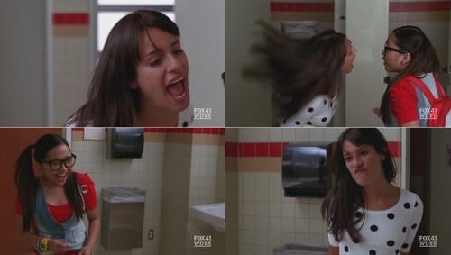 Glee之Rachel血盆大口