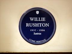 Photo of Willie Rushton blue plaque