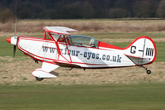 G-IIII - 1983 Christen built Pitts S-2B Special, Barton based at the time (egcc) Tags: manchester christen barton pitts cityairport pittsspecial s2b 5010 giiii egcb wwwfoureyescouk