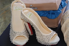The shoes - Louboutin Shoes (Whisks & Kisses) Tags: edibleimage cachous shoecake handbagcake shoeboxcake louboutincake