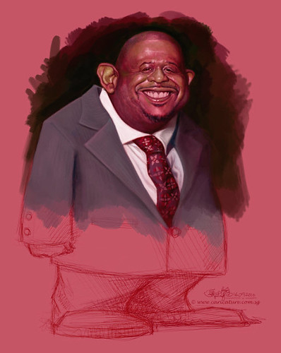 School Assignment 5 - caricature of Forest Whitaker - 6 small