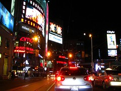 street toronto ontario canada west st night square downtown w dundas youge