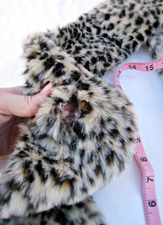 faux fur leopard scarf DIY -12