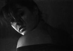 (D@deluc) Tags: camera light portrait people blackandwhite bw film girl face mood room ritratto ilford luce viso interno pellicola