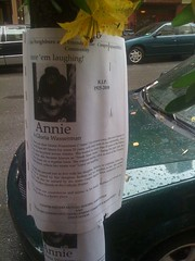 Photo of Annie's flyer