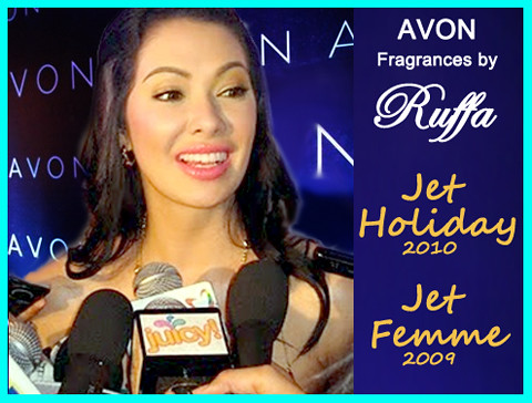 Ruffa Gutierrez AVON Jet Holiday Fragrance 2010