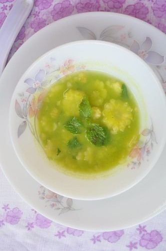 Mint Corn Soup
